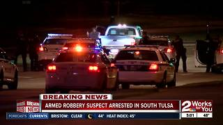 Armed robbery suspect arrested in South Tulsa - Video