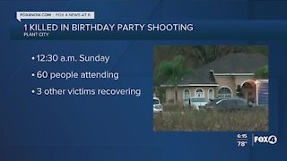 One killed at birthday party shooting