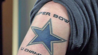 Palm Beach County Dallas Cowboys fan sports tattoo for his team - Video