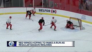 Red Wings hoping to make a run as regular season resumes - Video