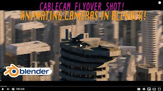 Blender 3d Helicopter Flyover shots: Using the Cablecam cinematic movement rig $!