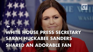 Sarah Huckabee Sanders Reads Fan Mail to Trump From 9-Year-Old Boy - Video