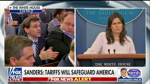 Jim Acosta Tries to Ask Follow-Up Question Four Times — Sanders Lays Smackdown: 'Not Today Jim!'