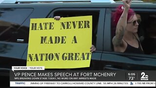VP Pence makes speech at Fort McHenry