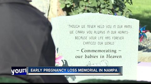 Early pregnancy loss memorial opens in Nampa