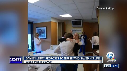 Man proposes to nurse who saved his life