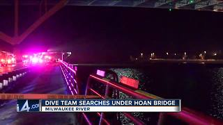 Abandoned U-Haul left on Hoan Bridge prompts dive team search in Milwaukee River - Video