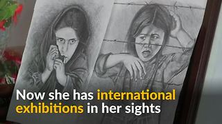 Disabled Afghan girl painter dreams of international fame - Video