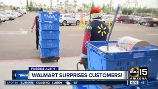 Walmart surprises customers during the holiday season