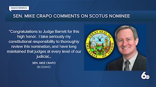 Sen. Mike Crapo and other Idaho officials comment on Supreme Court nomination of Amy Coney Barrett