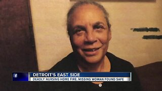 Woman found after deadly fire at senior home on Detroit's east side