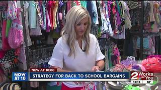 Strategy for back to school bargains - Video