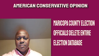 Maricopa County election officials delete database for election