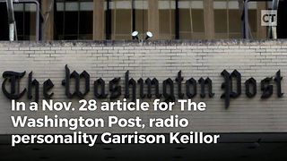 Keillor Outed After WaPo story - Video