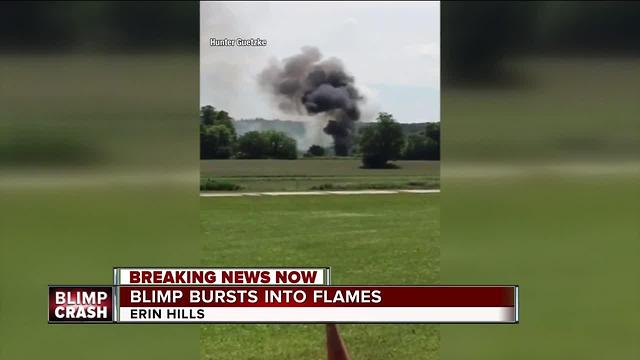 Blimp Crashes And Explodes Into Flames Near U S Open Golf