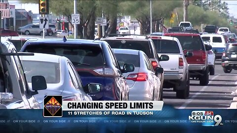 Speed limits changing on some Tucson roads