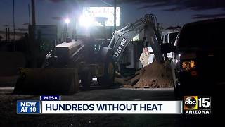 Hundreds of residents without heat in east Mesa - Video