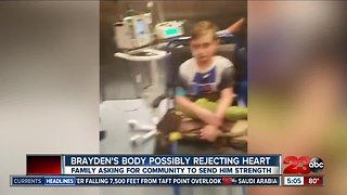 Brayden's family says he is possibly rejecting new heart - Video