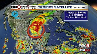 Tropical Depression Formation Possible Over Bay of Campeche