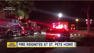 Lightning strike starts house fire in St. Pete