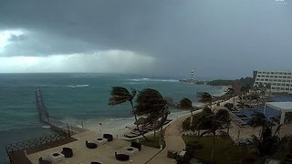 Tropical Storm Franklin Passes Near Cancun - Video