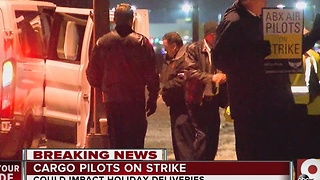 Cargo pilots on strike at CVG - Video