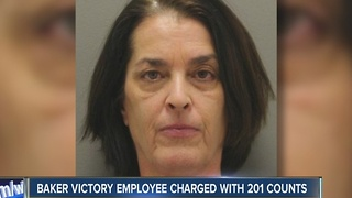 Baker Victory employee charged with 201 counts - Video