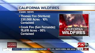 Update on California Wildfires - Video