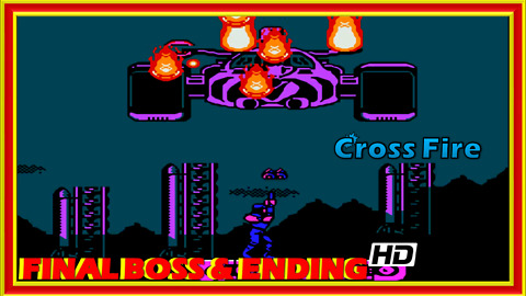 Cross Fire (NES) Final Boss Fight & Ending - 60 FPS HD