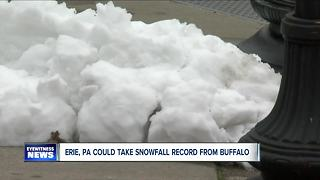 Erie, PA could take snowfall record from Buffalo - Video