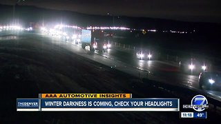 Check Your Headlights as Winter Darkness Approaches