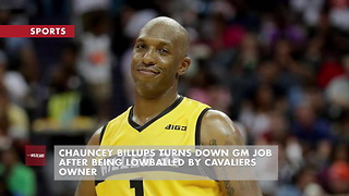 Chauncey Billups Turns Down GM Job After Being Lowballed by Cavaliers Owner - Video