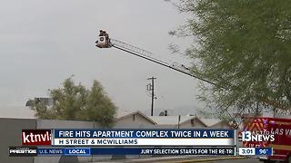 Fire hits same vacant complex for 2nd time - Video