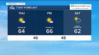 Beautiful day in store for Thursday