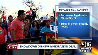 McCain reveals new plan on immigration deal - Video