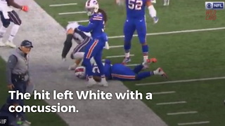 Bills rookie injured by Gronkowski's cheap shot sends ominous text to ESPN... - Video