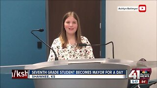 Seventh-grader becomes Shawnee mayor for a day