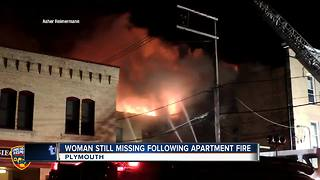 One dead after massive Plymouth apartment fire, mother still unaccounted for - Video