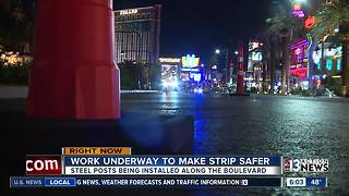 UPDATE: Posts being installed on Las Vegas Strip to protect pedestrians - Video