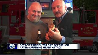 Colleagues remember Detroit firefighter who died of heart attack - Video