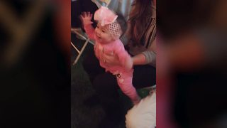 """A Baby Girl Dances to Music at A Wedding"""