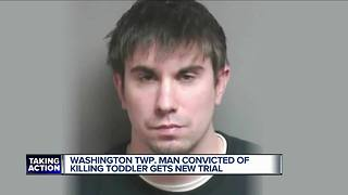 Washington Township man convicted of killing toddler gets another trial - Video