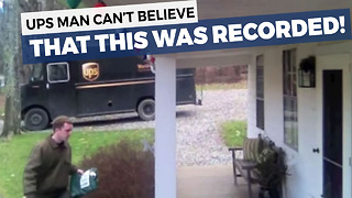 They Never Imagined Their UPS Guy Would Do THIS On Camera - Video