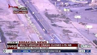 Multi-vehicle crash forces I-15 near Lamb Blvd. - Video