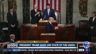 President Trump gives second State of the Union speech