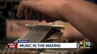 Amazing! How an Arizona school makes guitars from scratch - Video