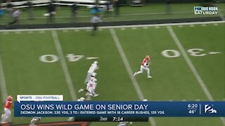 OSU wins wild game on senior day