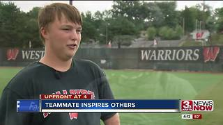 Westside junior with one hand gets ready for football season - Video