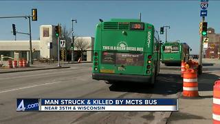 53-year-old Milwaukee man dies after being struck by Milwaukee County Transit System bus - Video
