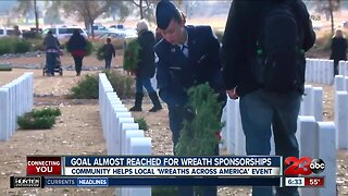 Goal almost reached for Wreaths Across America sponsorships